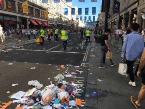 trash after pride in london