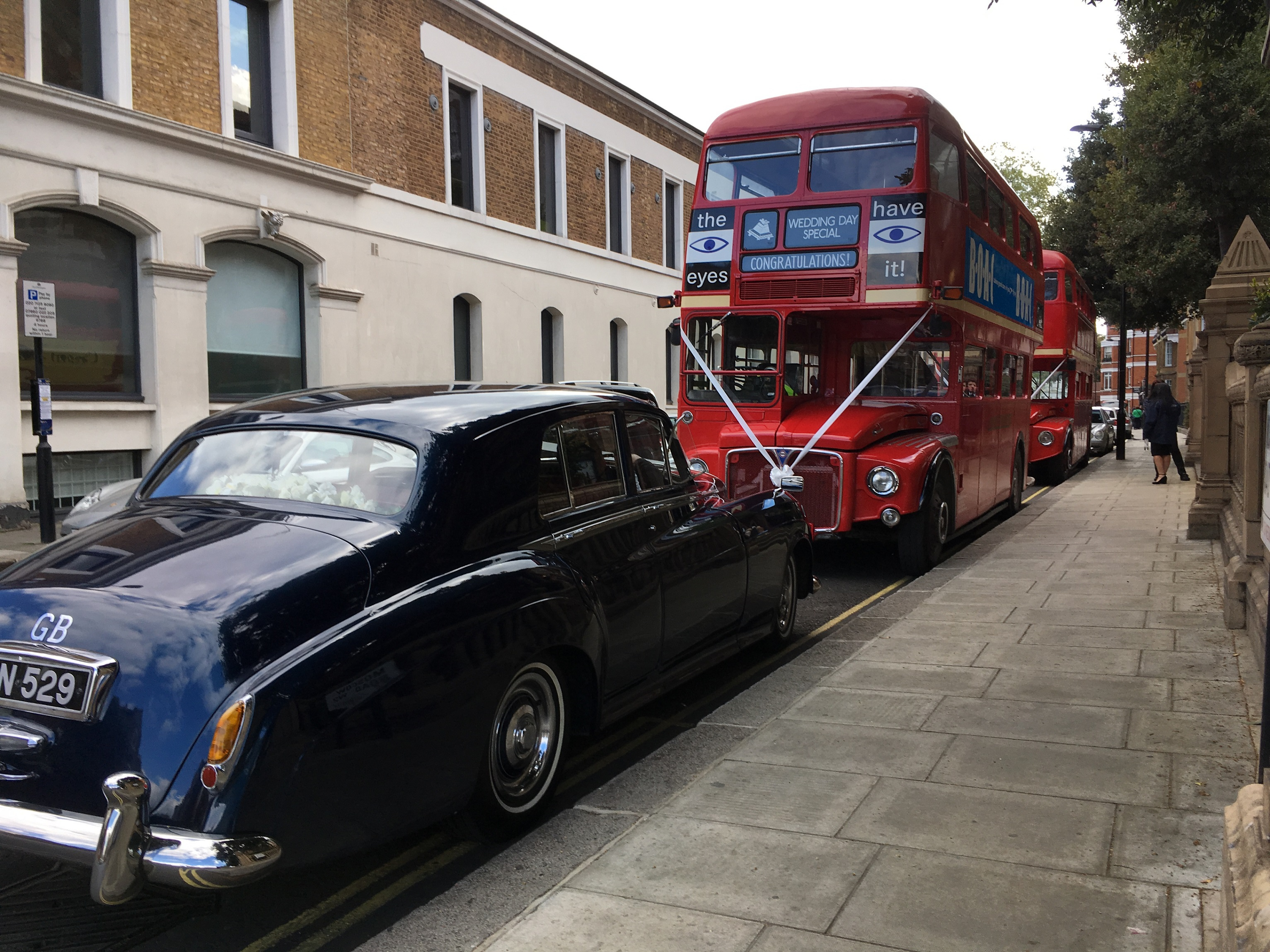 St. Sophia Greek Cathedral wedding bus