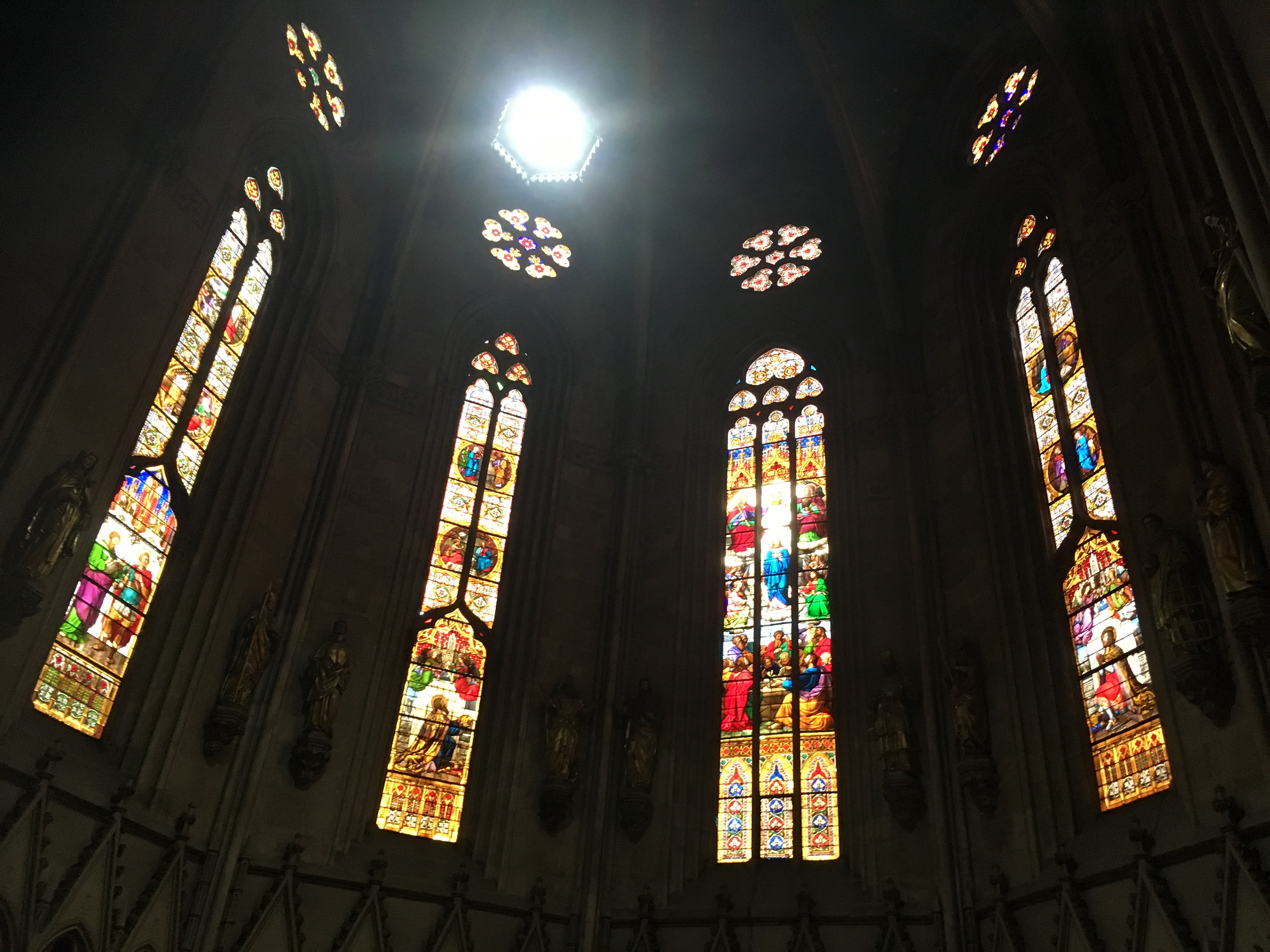 zagreb cathedral stained glass