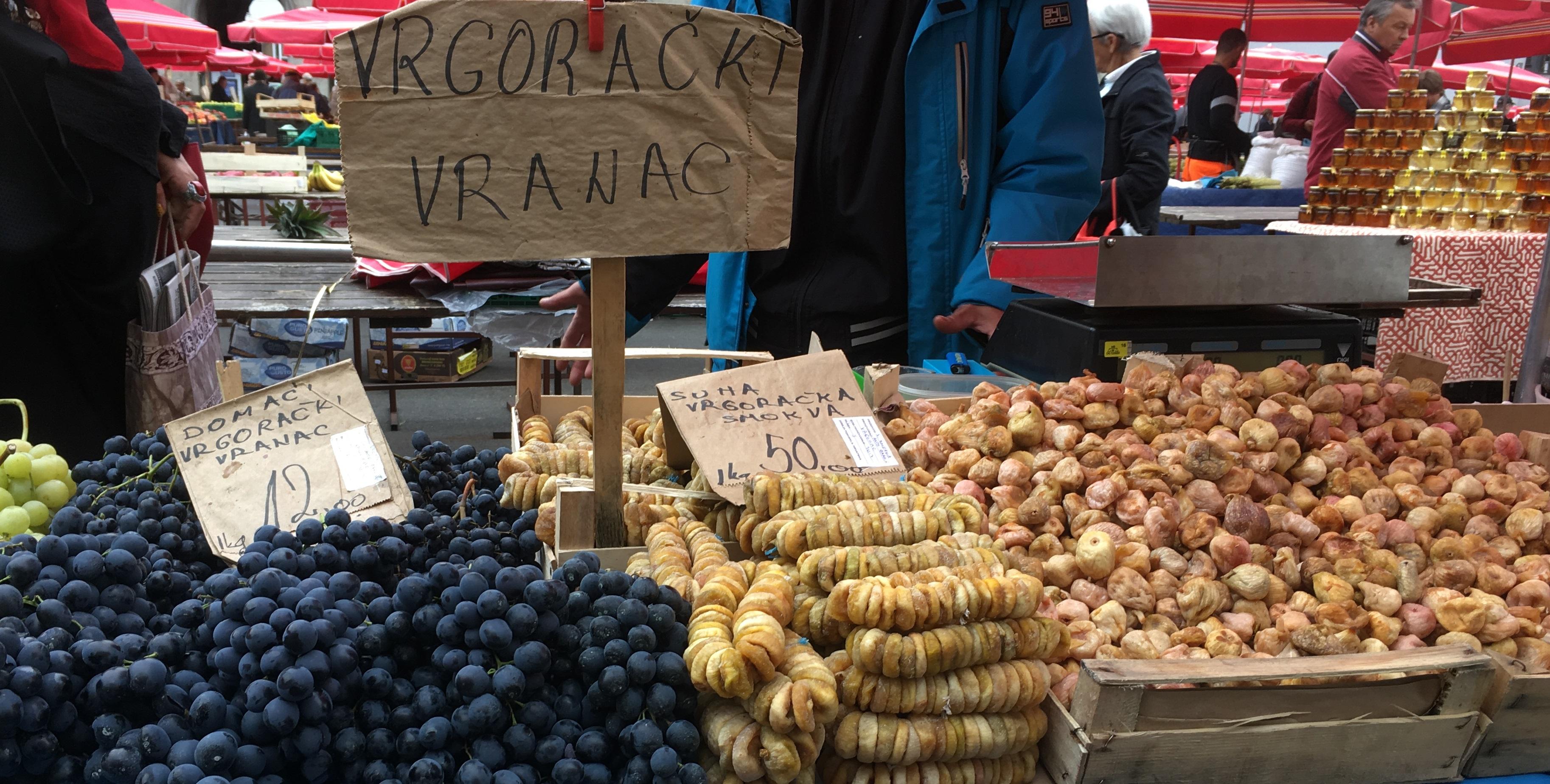zagreb market food