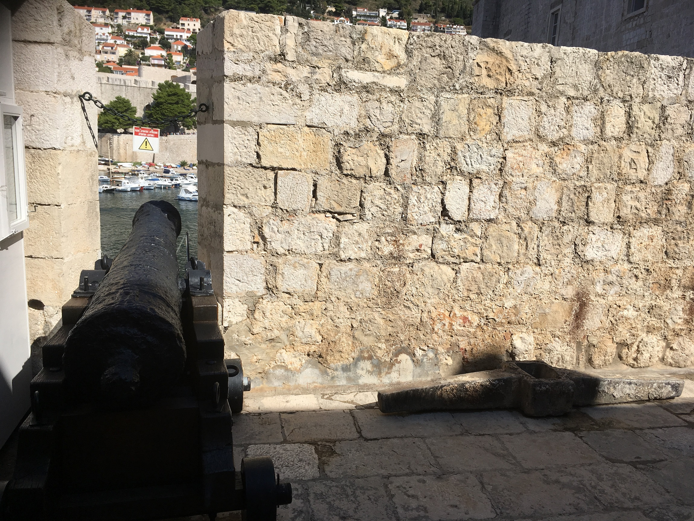 dubrovnik old city cannon