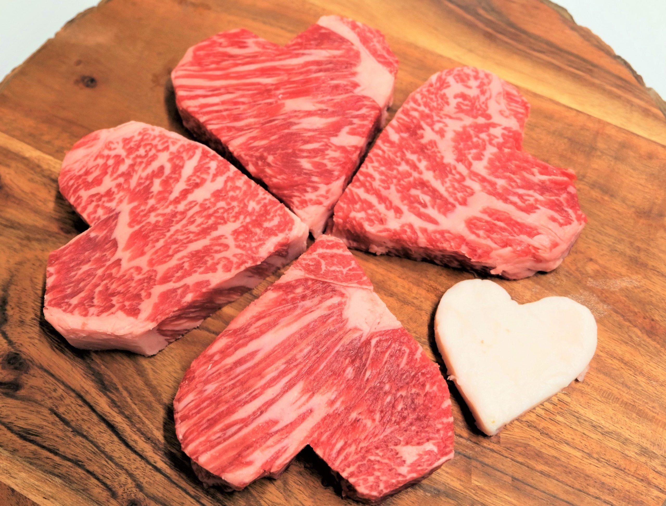 国産牛ハート型サーロインステーキ